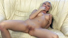 Horny Blonde Amateur Fingers Herself