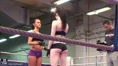 Sexy Wrestlers Samantha Bentley  And Angelica Kitten Get Naked