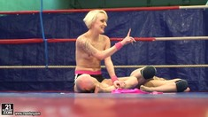 Sexy Wrestling With Nude Paige Fox And Lucy Bell