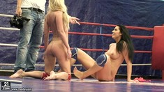 Strong Lesbians Dorina Gold And Melissa Ria Get Nude