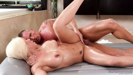 Wet Massage Action With Busty Girl