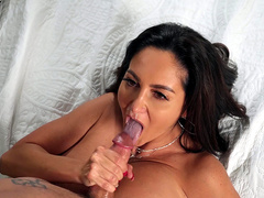 Ava Addams Jerks That Young Cock Till He Cums In Her Mouth