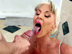 Milf Sally D'Angelo Gets Blasted With Jordi's Fresh Hot Cum