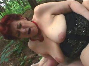 Fatty Mature Sucked Dashing Man Big Cock Outdoors