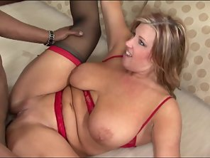 MILF In Stockings Gets Fucked Hard
