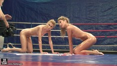 Girl On Girl Oily Wrestling With Ioana And Babette