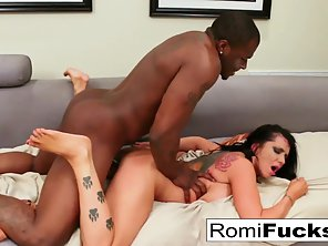 Hot Romi Rain Getting Hardcore Slammed By Meaty Dick