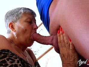 Horny Granny Savana Sucked Marc Kaye's Big Cock