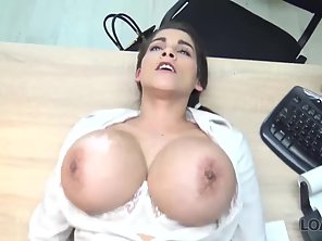 Girl With Huge Boobs Miss Lee Gives Blowjob To Her Partner Before Sex In Office