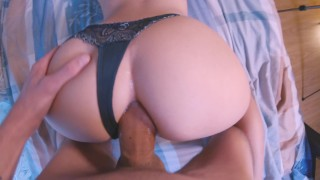 Young Teen Enjoys Anal Sex, Creampie