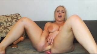 Teen Blond With Big Tits Plays With Her Toys On Webcam