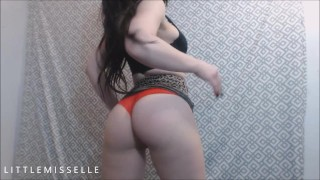 Vintage LittleMissElle Booty Teases Thick And Thin