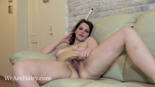 Karen B Lays Naked On Her Couch After Her Work