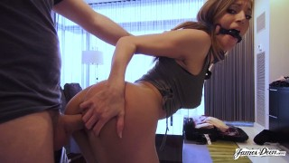 MOKA MORA Is James Deen's Pet Slut – BDSM Rough Sex With Petite Latina Teen