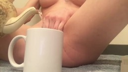 Cute Blonde Masturbates And Pees Desperation Video