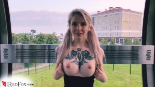 Teen Blowjob Cock Stranger And Jerk Off In A Public Place