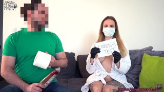 Blonde Nurse Fucked After Corona Test