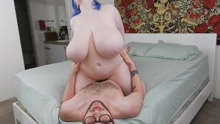 Chubby Amateur Girl With Huge Natural Tits Sucks And Fucks