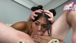 69 Throat Fucking! Use My Face Hard N Deep And Cum Twice! Throatpie Closeup